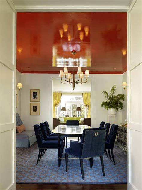dining room glossy painted ceiling design  palmer