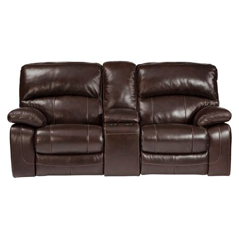 Reclining Loveseat With Console by Damacio Glider Reclining Loveseat With Console
