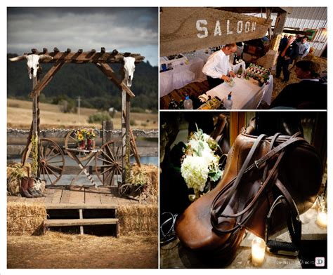 country chic wedding western theme wedding and decoration