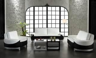 unique design black and white living room leather
