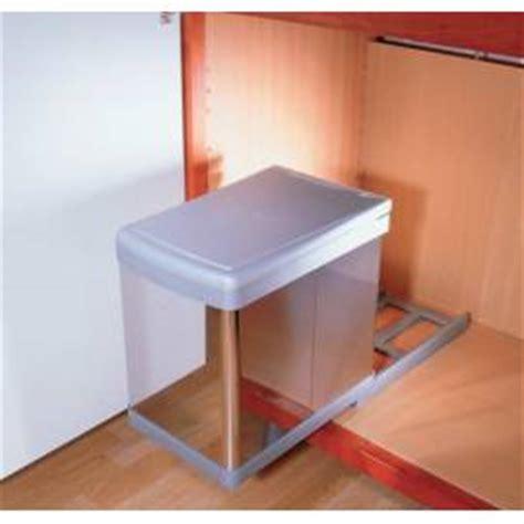 poubelle cuisine 40 litres poubelle coulissante monobac sous évier accessoires de