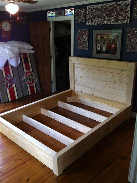 bed frame platform build wooden diy twin inspired king ana projects project additional captain beginner