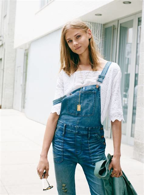 Overall Michele madewell overalls worn with the embroidered