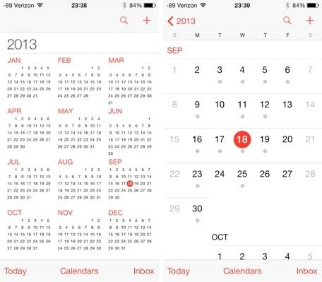 how to link calendars on iphone ios 7 the calendar app re imagined