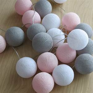 Cotton Balls Lichterkette : cotton ball lights 20 er lichterkette rosa grau wei b lle kugel led kuge ebay ~ Sanjose-hotels-ca.com Haus und Dekorationen