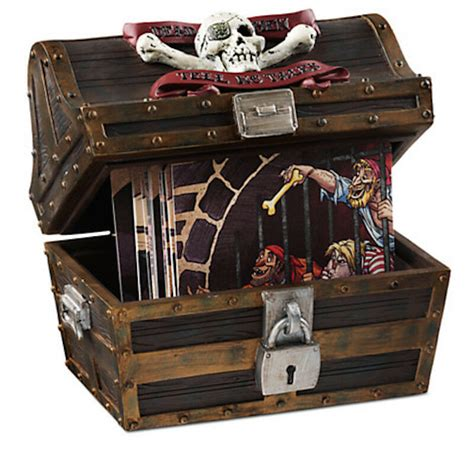 Disney Parks Pirates Of The Caribbean Treasure Chest With 16 Coasters New W Tags Ebay