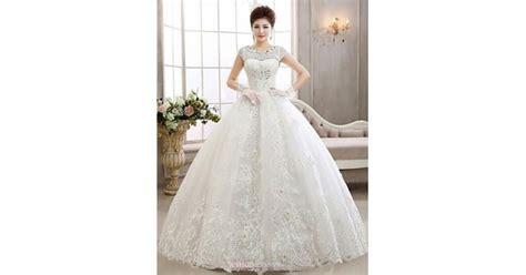 Ball Gown Ankle-length Wedding Dress -bateau Lace,cheap Uk