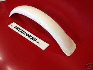 honda rtl250 front mudguard fender trials twinshock white fits tlr200 ebay