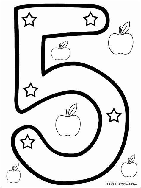 numbers coloring pages coloring pages    print