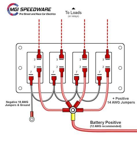4 gang marine rocker panel for cars boats mgi speedware