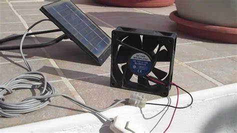 how to make a solar powered fan solar panel fan for ventilation youtube