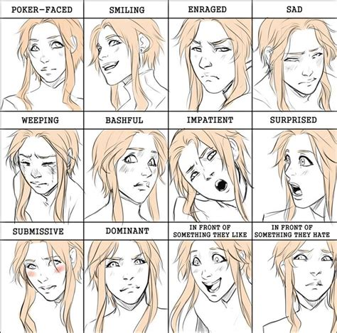 Expressions Meme - comm geheim expression meme by noiry deviantart com on deviantart anatomic references art
