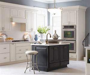 off white sullivan kitchen cabinets with dark grey island With kitchen colors with white cabinets with item tracker sticker