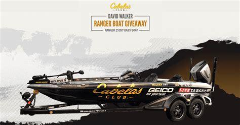 Cabela S Boat Giveaway by Cabela S Club David Walker Ranger Boat Giveaway How To