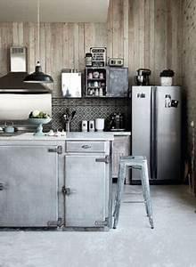 Cuisine Style Industriel Bois : cuisine style industriel zinc et bois ~ Teatrodelosmanantiales.com Idées de Décoration