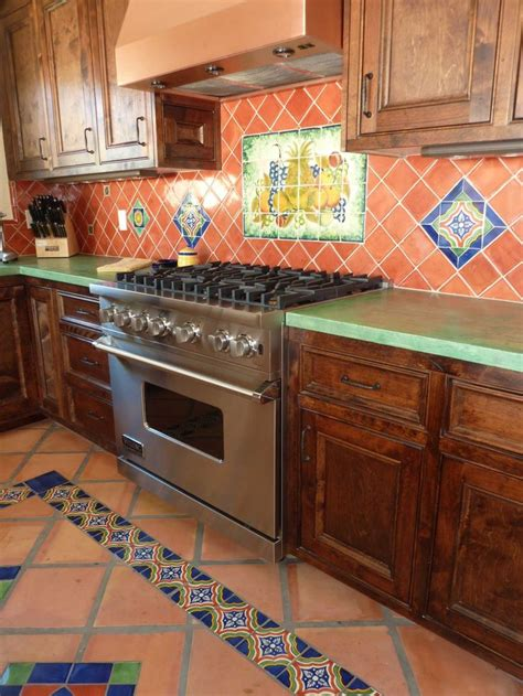 kitchen remodel using mexican tiles tiles
