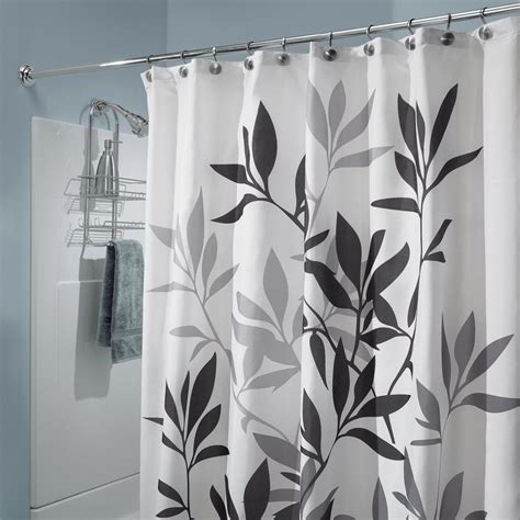 Shower Curtain Gray by Interdesign Leaves Shower Curtain Black And Gray 72 Inch