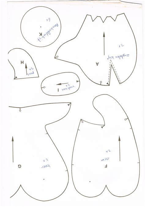Template For Sewing by He Free Doll Clothes Patterns Free Forefinger