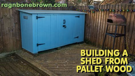 building  shed  pallet wood part    youtube