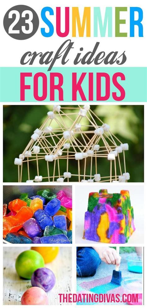 Boredom Busters Summer crafts Craft activities for kids