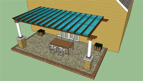 attached pergola plans howtospecialist how covered pergola designs quotes