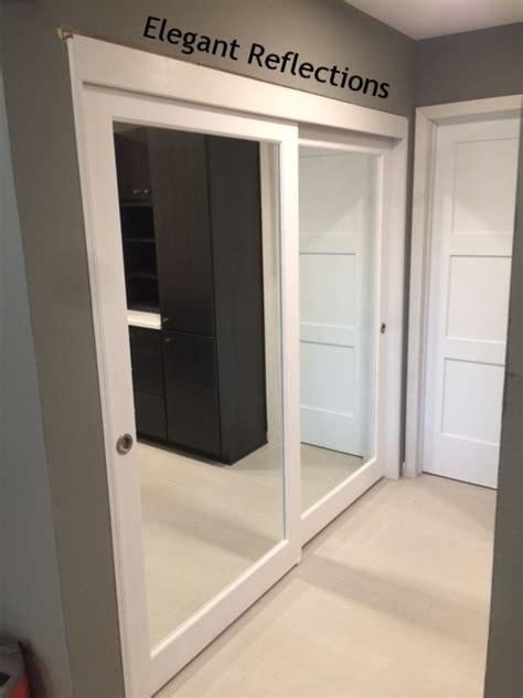 Glass Mirror Closet Doors by Mirrored Closet Doors Interior Doors And Closets