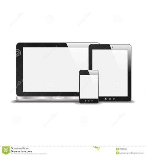 modern smartphone vector vector free realistic notebook smart phone and tablet pc with blank