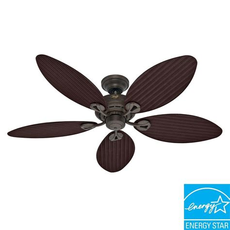 hunter bayview 54 in outdoor provencal gold ceiling fan