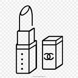 Coloring Drawing Lipstick Line Prints Favpng sketch template