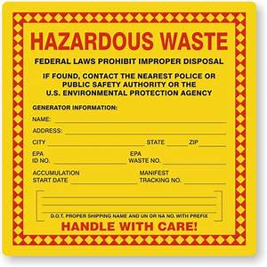 Hazardous waste labels for Hazardous waste label template