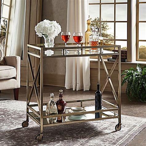 verona home grenshaw bar cart  antique brass bed bath