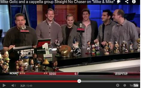 Mike Golic lends a voice to a cappella group Straight No ...