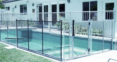 No Holes Portable Pool Safety Fence