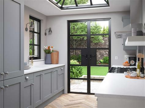 grey shaker style contemporary kitchen og kitchens