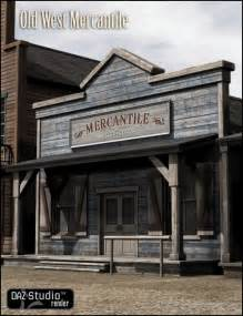 shed style architecture west mercantile 3d building model 3d models and 3d software by daz 3d