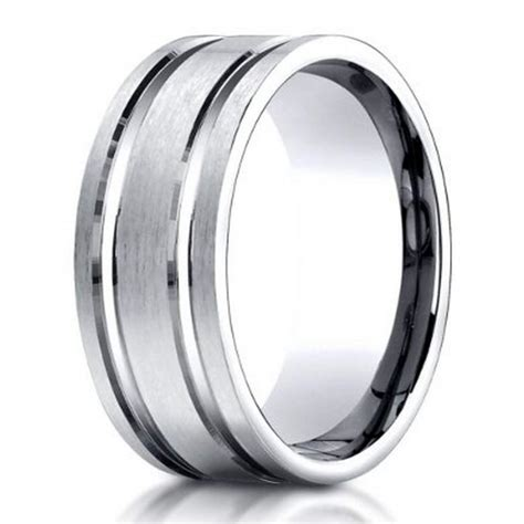 Designer Men's Palladium Wedding Band 8mm Just Men's Rings