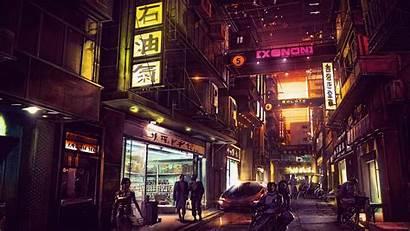 Cyberpunk Futuristic 4k Night Future Digital Artwork