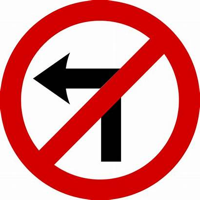 Turn Left Sign Road Svg Mandatory Ireland