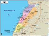 Lebanon Political Wall Map | Maps.com.com
