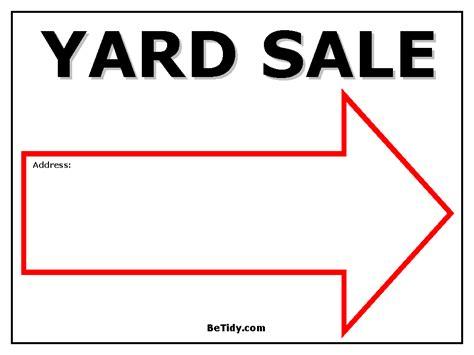 printable yard sale signs organizing storage