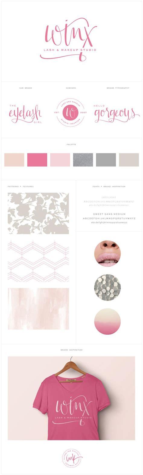 branding addicts brand board modern brand launch winx lash makeup studio salted ink