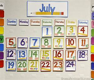 home preschool calendar board from abcs to acts With bulletin board calendar template