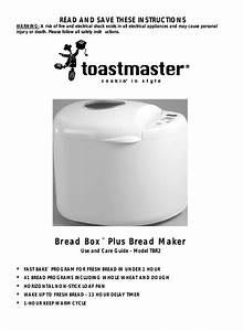 Toastmaster Tbr2 User Manual