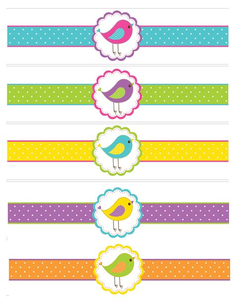 printable label bird birthday with free printables how to nest for less