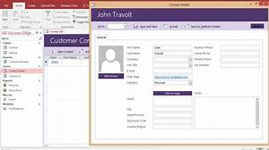microsoft access customer contact database access With customer service database template