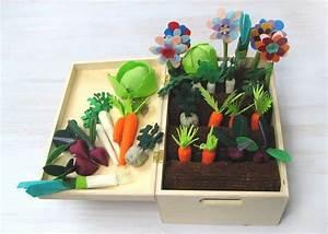 Felt Vegetable Garden Play Set  Spring Gift  For Autism