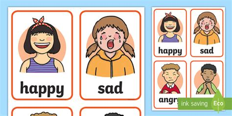 Feelings Faces Cards  My Emotions Literacy Primary Resources, Emotion