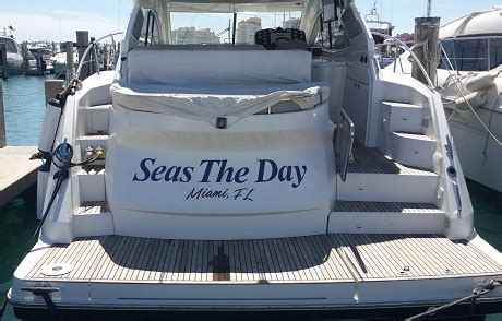 Boat Lettering In Miami by Boat Lettering Custom Made Miami South Kendall