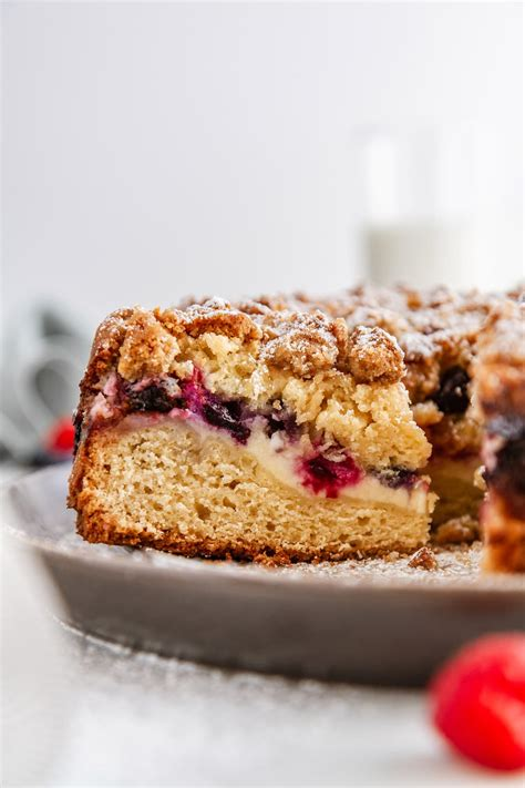 Layering the ingredients in this coffee cake recipe right into the pan lets you skip the steps of making. Triple Berry Cream Cheese Coffee Cake Recipe   Girl Versus Dough