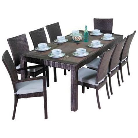 Rst Brands Deco 9piece Patio Dining Set With Bliss Blue
